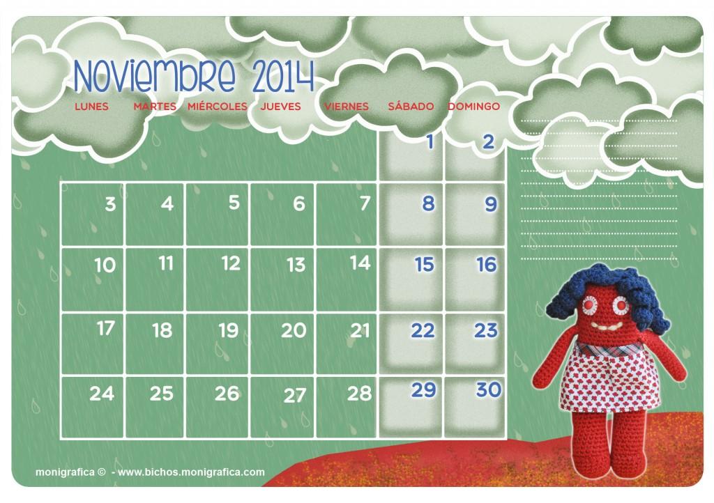 Calendario Noviembre 2014
